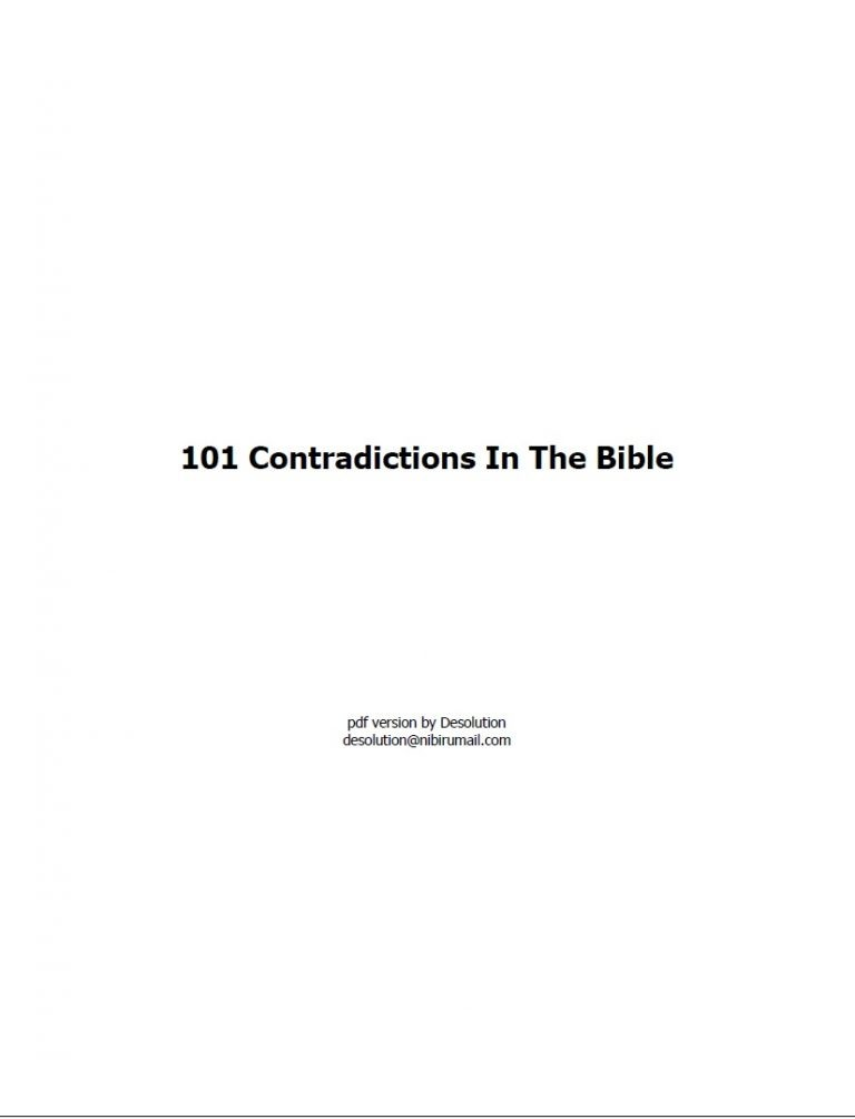 101 Contradictions in the Bible