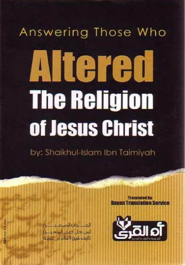 Answering Those Who Altered Religion of Jesus Christ